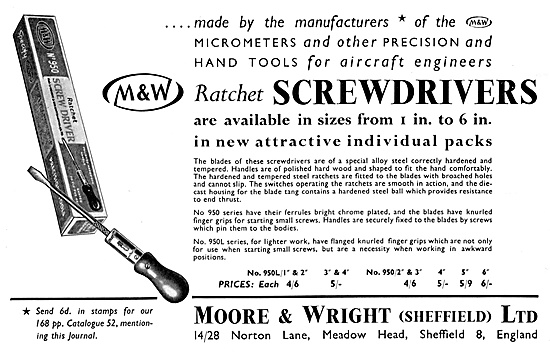Moore & Wright Ratchet Screwdrivers & Micrometers