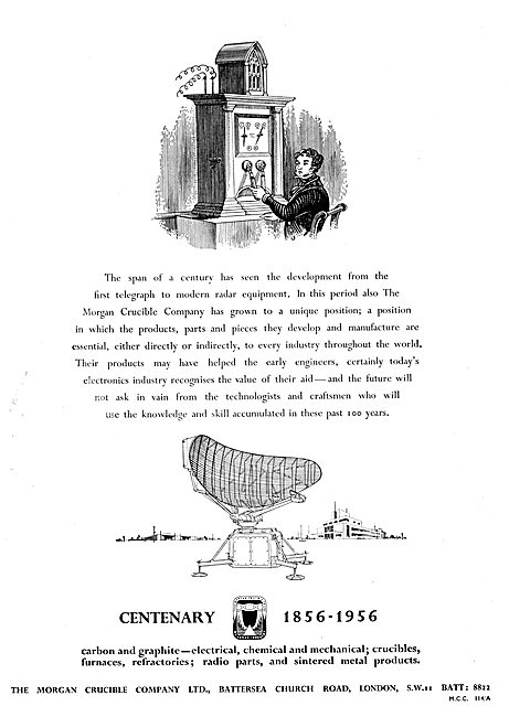 Morgan Crucible. Carbon, Electrical, Radio, Furnaces & Sintered