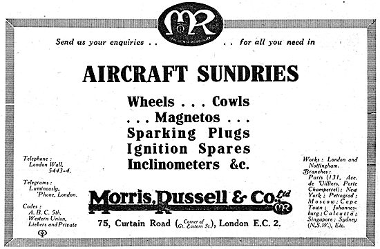 Morris,Russell & Co.Aircraft Sundries - Nottingham & London