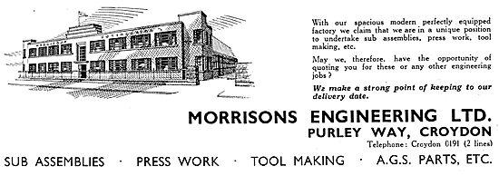 Morrisons Engineering - Press Work - Tool Making - Sub Assemblies