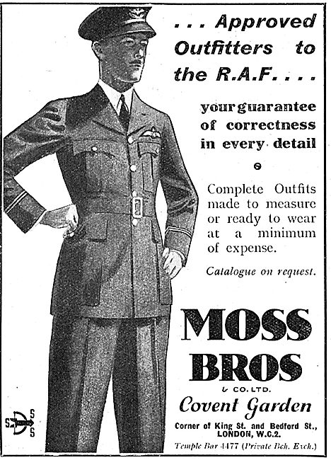 Moss Bros - Approved Outfitters To The Royal Air Force