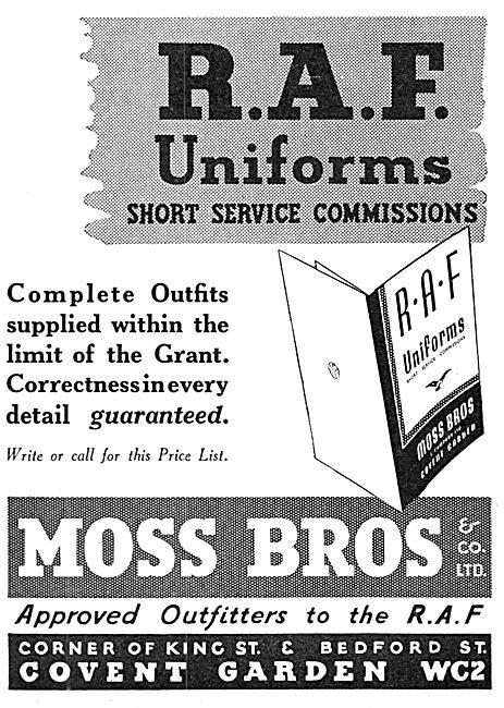 Moss Bros RAF Uniforms