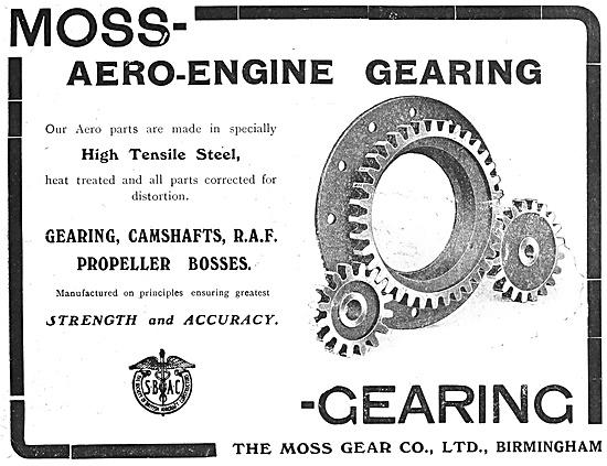 Moss Aero Engine Gearing - Aston Birmingham