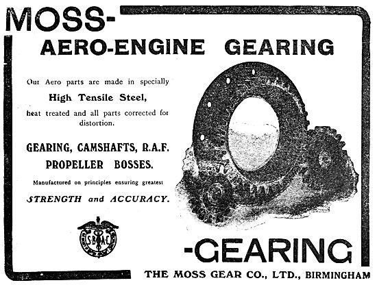 Moss Aero Engine Gearing -1919