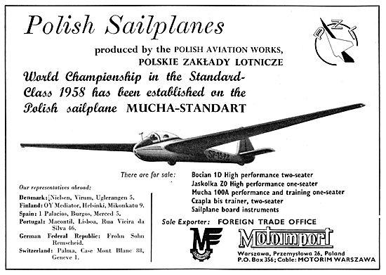 Motoimport Gliders  Bocian 1D - Mucha 100A