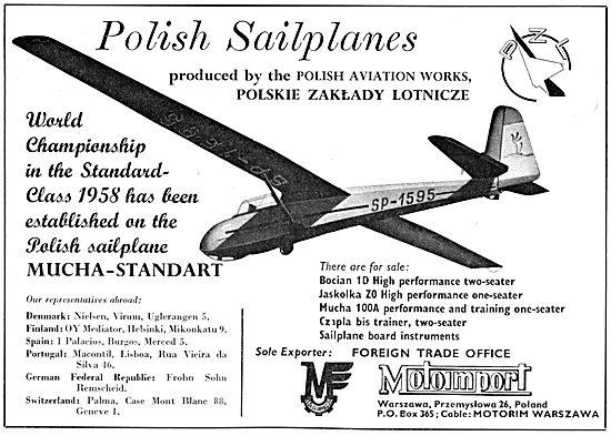 Motoimport Polish Sailplanes - Jasolka ZO - Czapla Bis Trainer