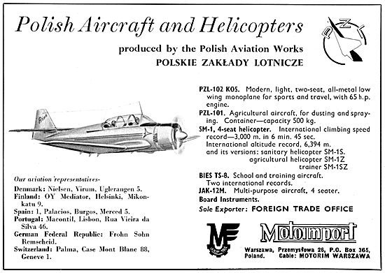 Motoimport Polish Aviation Works - PZL-102 PZL-101 JAK-12M