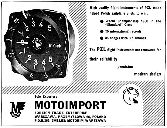 Motoimport PZL Flight Instruments - Variometer