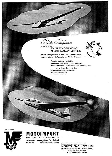 Motoimport - Polish Sailplanes - Bocian 1D - Czapla Bis