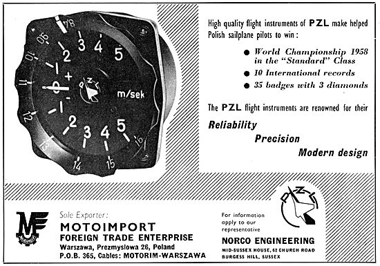 Motoimport - PZL Sailplanes & Flight Instruments