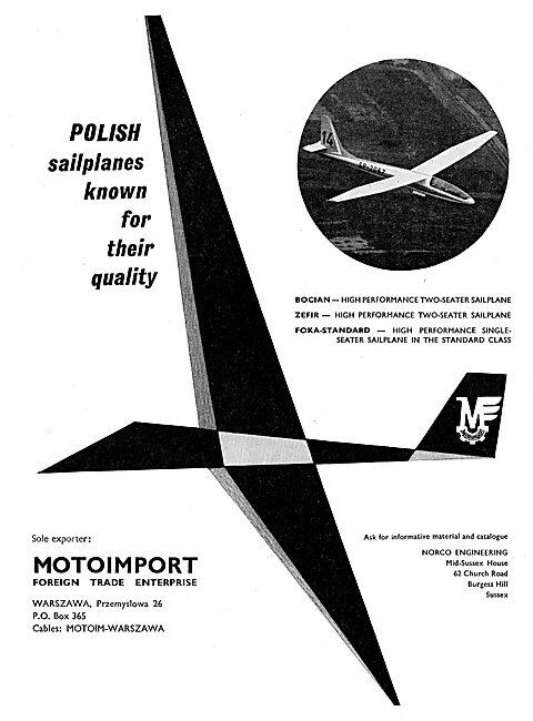 Motoimport - Bocian Sailplanes: Norco