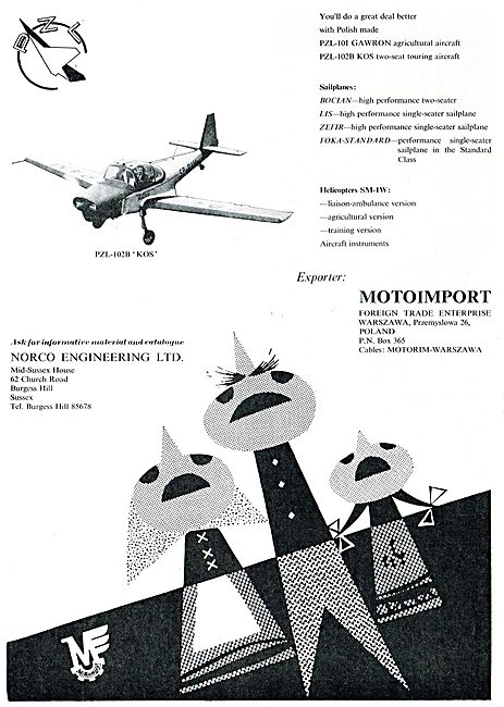 Motoimport - PZL-102B Two Seat Touring Aircraft: Norco