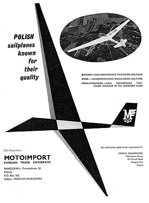 Motoimport - ZEFIR & FOK A-Standard Sailplanes: Norco