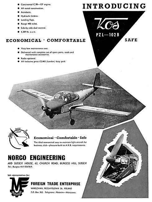 Motoimport - PZL-102B Touring Aircraft: Norco