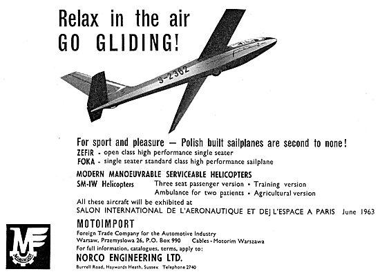 Motoimport Aeroplanes & Sailplanes - Norco Engineering