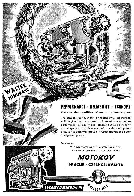 Motokov - Walter Minor Aero Engines
