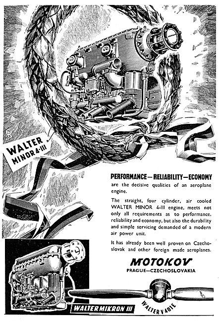 Motokov Walter Mikron III - Walter V 401E