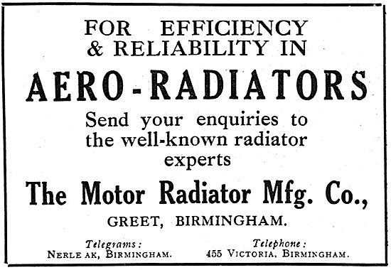 Motor Radiator Mfg Co Efficient Aero Engine Radiators