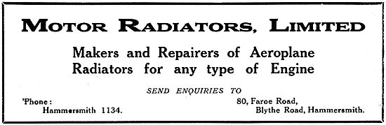 Motor Radiators Ltd - Aero Engine Radiators & Repairs.