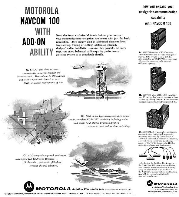 Motorola Avionics - Motorola NavCom 100