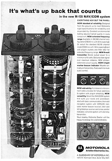 Motorola Avionics - Motorola M-135 Nav/Com