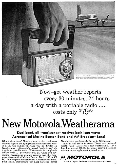 Motorola Weatherama Airband Radio