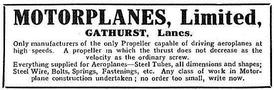 Motorplanes Ltd - Aeroplane Propeller Manufacturers