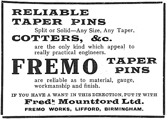 Frederick Mountford Fremo Taper Pins