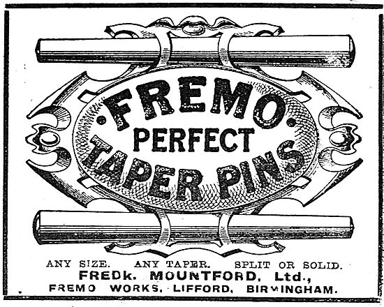 Fredk Mountford Fremo Taper Pins For Aircraft Constructors