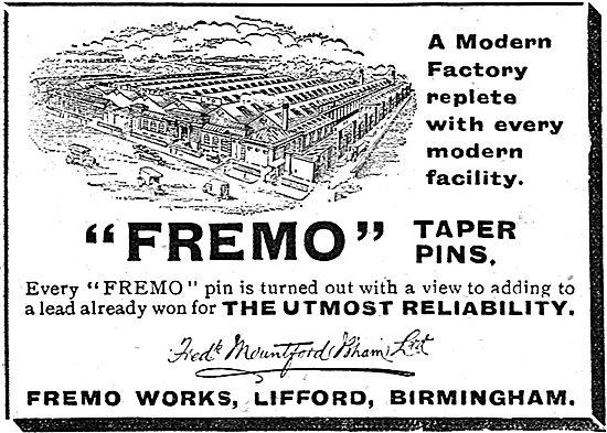 Fredk Mountford Fremo Taper Pins. Fremo Works, Lifford Bham