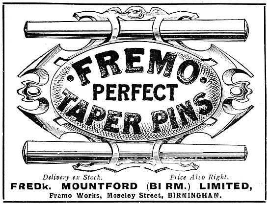 Fredk Mountford Fremo Taper Pins