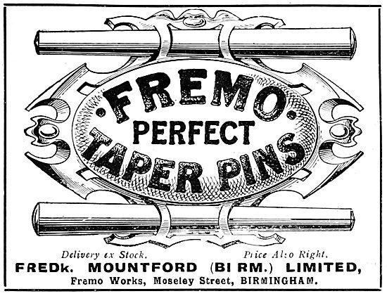 Fredk Mountford Fremo Taper Pins