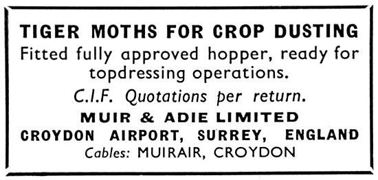 Muir & Adie. Croydon. Aircraft Sales.