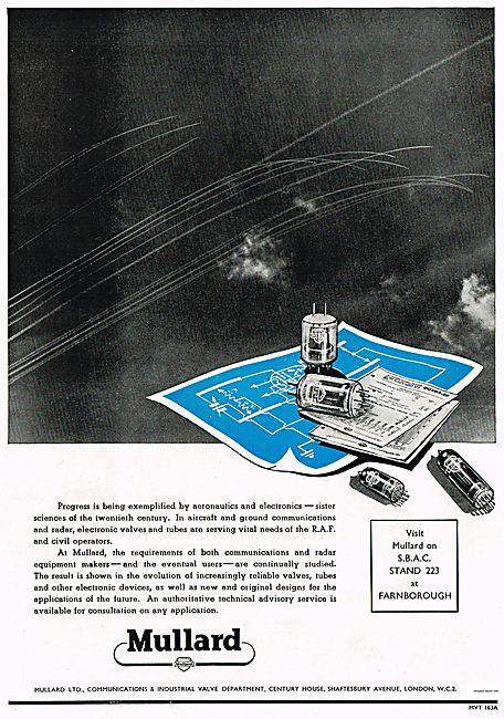 Mullard Electronic Valves For Radar Equipment.