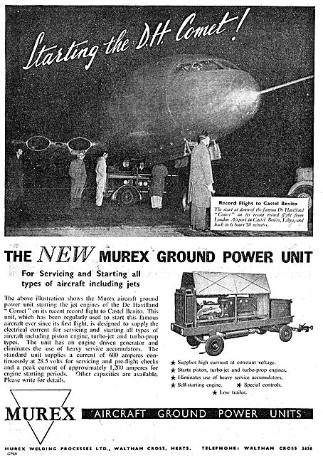 Murex Aircraft Ground Power Units 1949