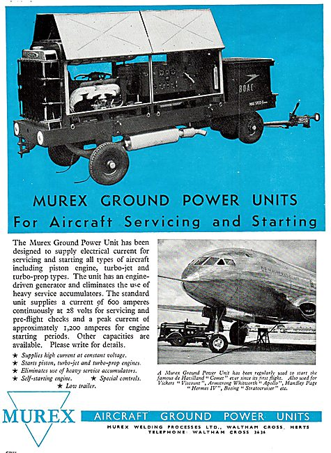 Murex Aircraft Ground Power Units 1950