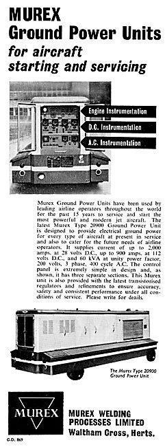 Murex Aircraft Ground Power Units
