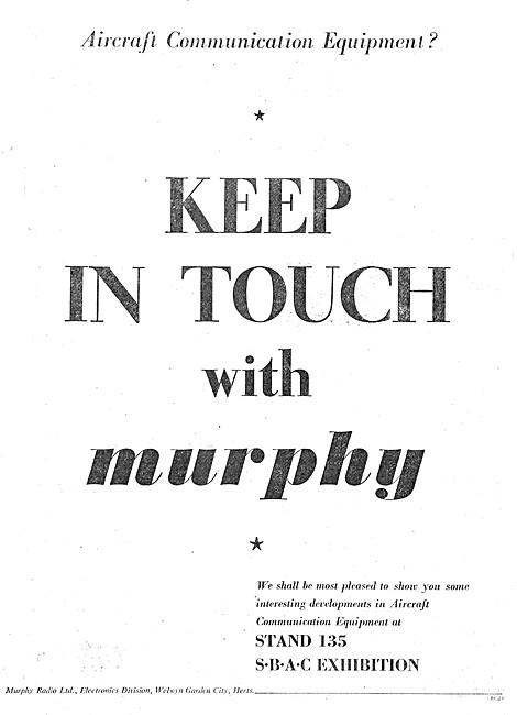 Murphy Aircraft Communications Equipment