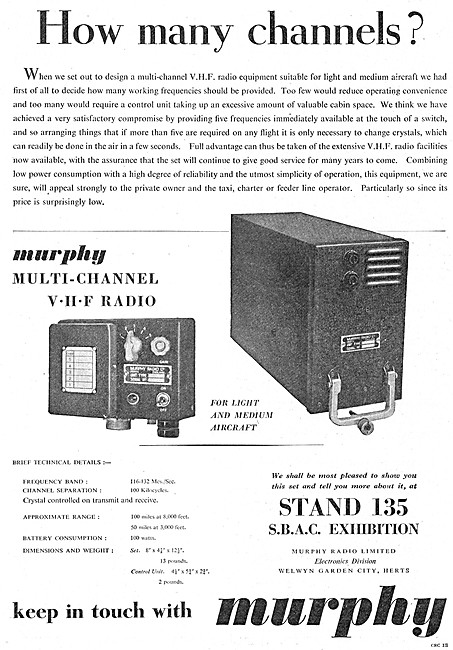 Murphy Aircraft Communications Equipment - Murphy Radios