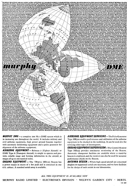 Murphy Radio Ltd: Radio & Radar Aids For Air Navigation.