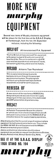Murphy Radio Ltd: Radio & Radar Aids For Air Navigation.