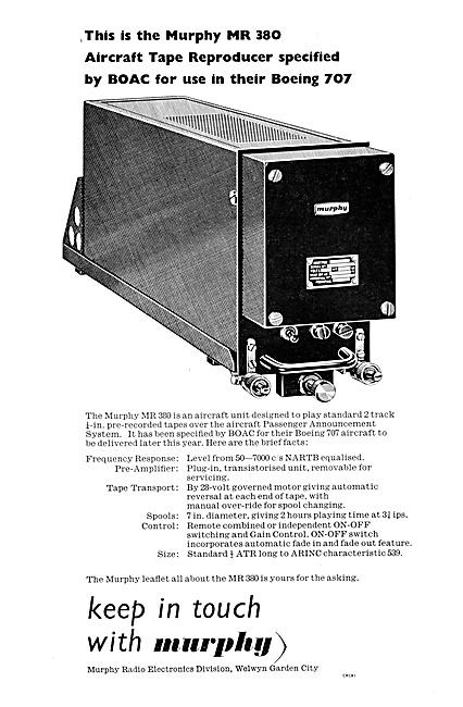 Murphy Radio Ltd: Aircraft P/A.Equipment