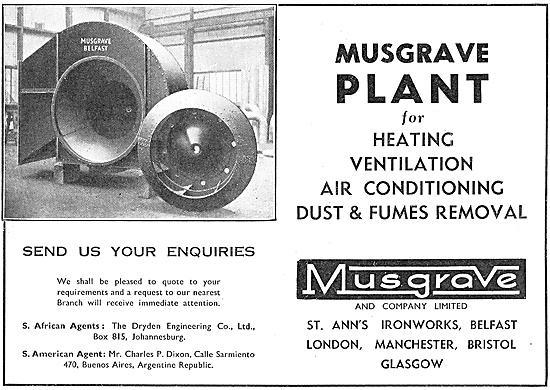 Musgrave Factory Ventilation Fans.