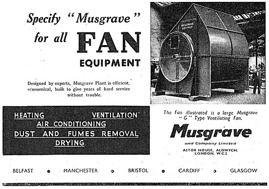 Musgrave Factory G Type Ventilating Fans.