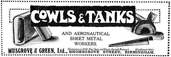 Musgrove & Green -  Aeronautical Sheet Metal Workers WW1