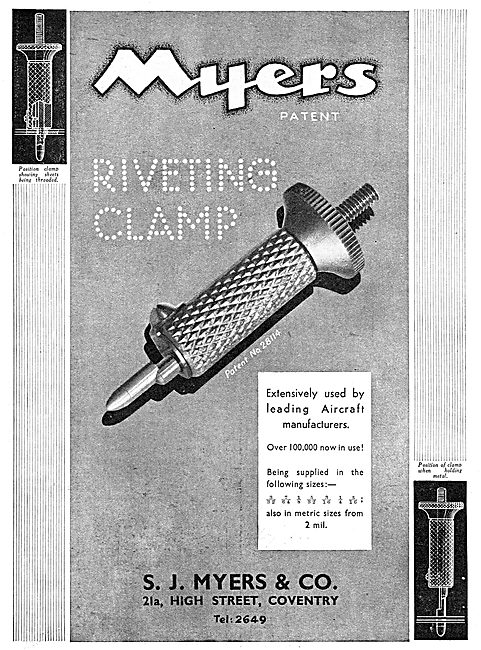Myers Aircraft Riveting Equipment - Myers Riveting Clamp