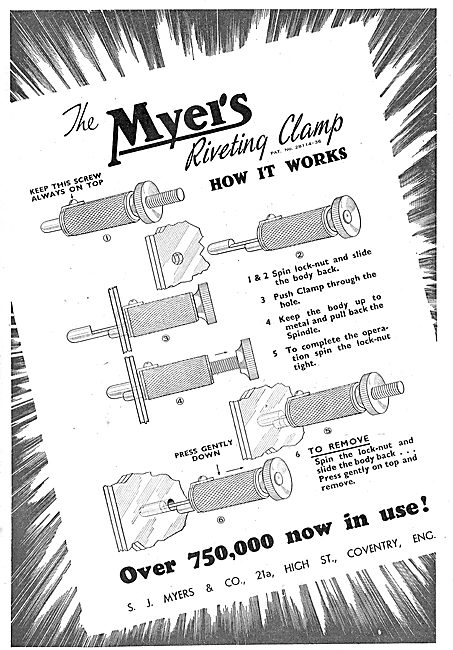 Myers Aircraft Riveting Equipment