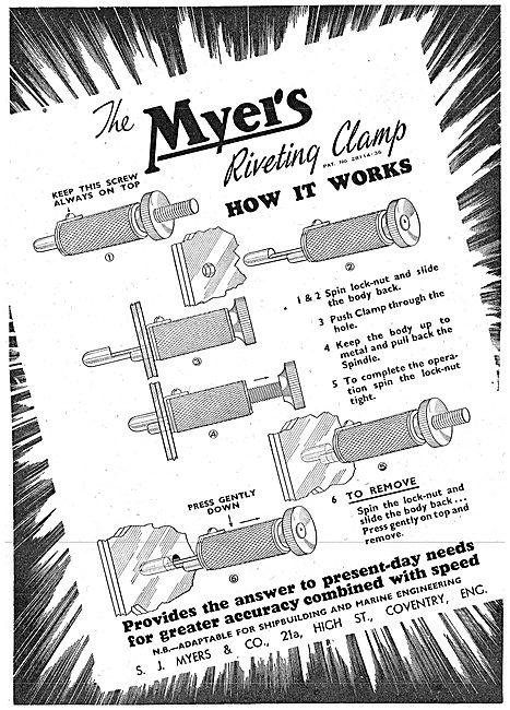 Myers Aircraft Riveting Equipment