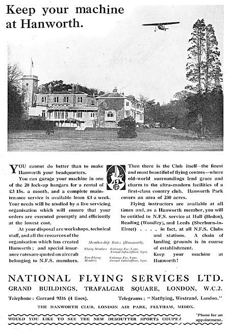National Flying Services - Keep Your Machine At Hanworth