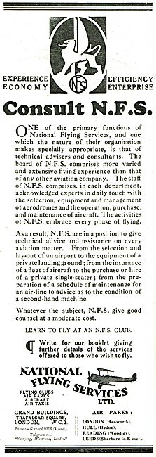 Consult NFS - National Flying Services Have The Experience...